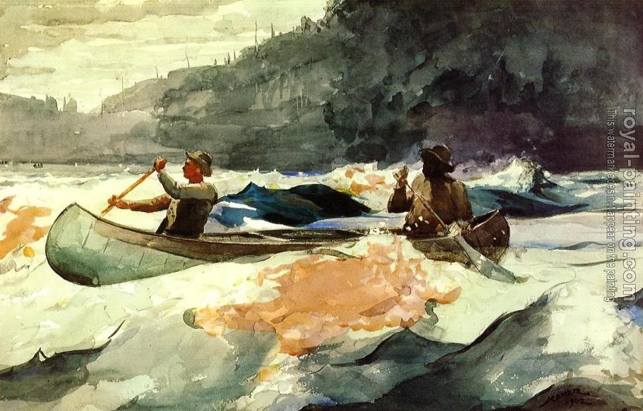 Winslow Homer : Shooting the Rapids II