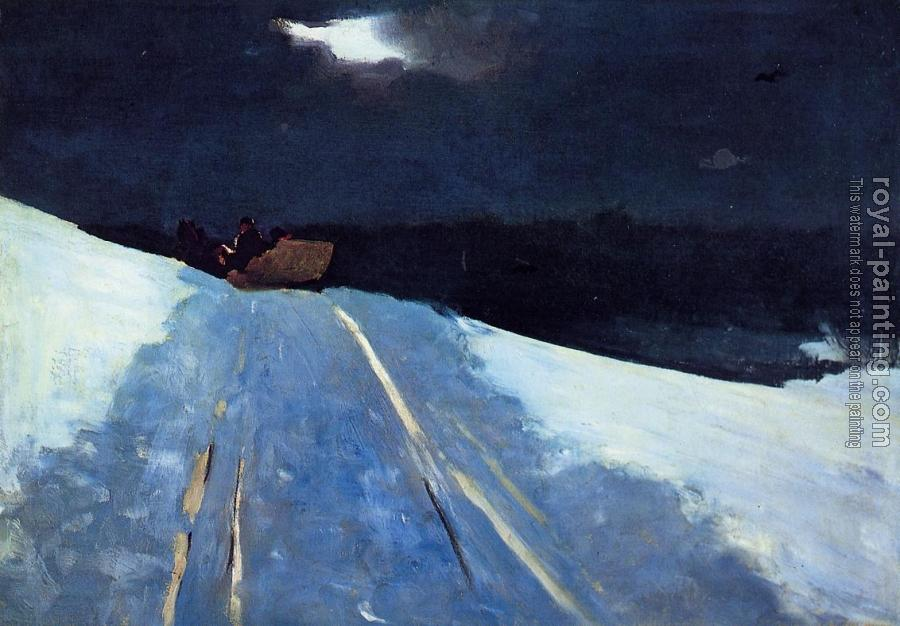 Winslow Homer : Sleigh Ride