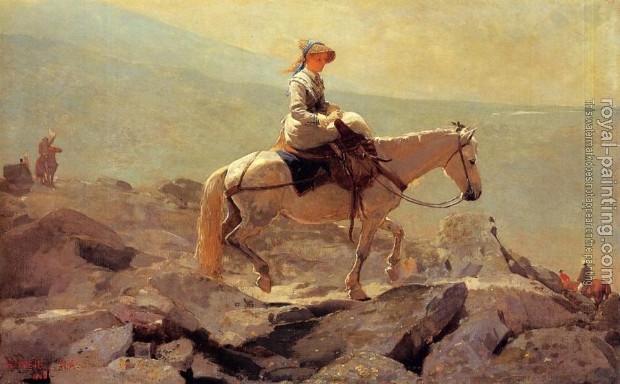 Winslow Homer : The Bridle Path, White Mountains