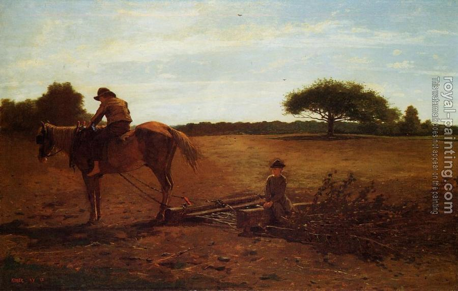 Winslow Homer : The Brush Harrow