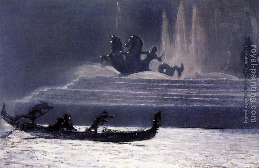 Winslow Homer : The Fountains at Night, World's Columbian Exposition