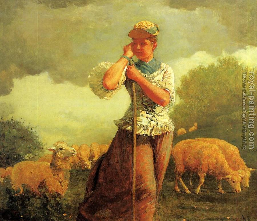 Winslow Homer : The Shepherdess of Houghton Farm