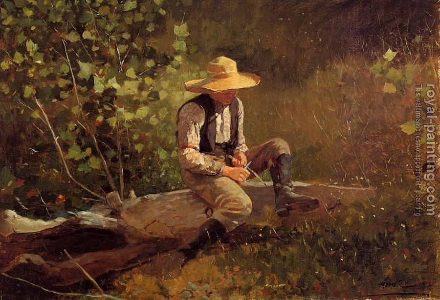 Winslow Homer : The Whittling Boy II