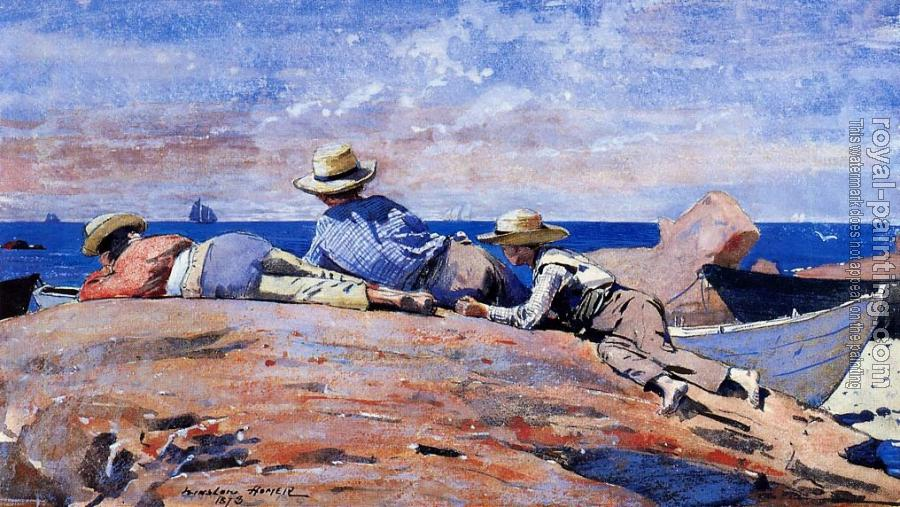 Winslow Homer : Three Boys on the Shore