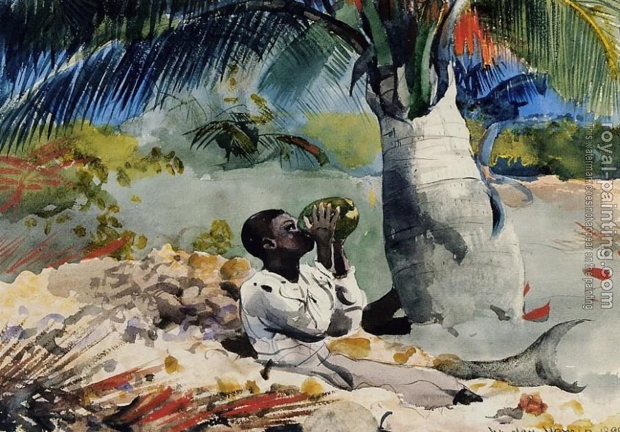 Winslow Homer : Under the Coco Palm