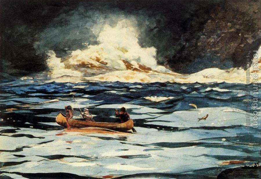 Winslow Homer : Under the Falls, The Grand Discharge