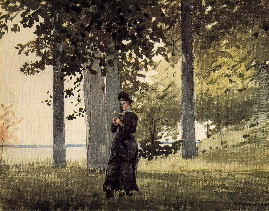 Winslow Homer : Woman with a Flower