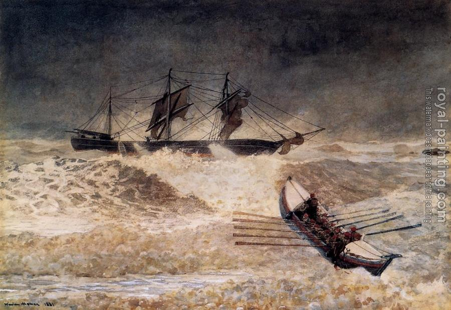 Winslow Homer : Wreck of the Iron Crown