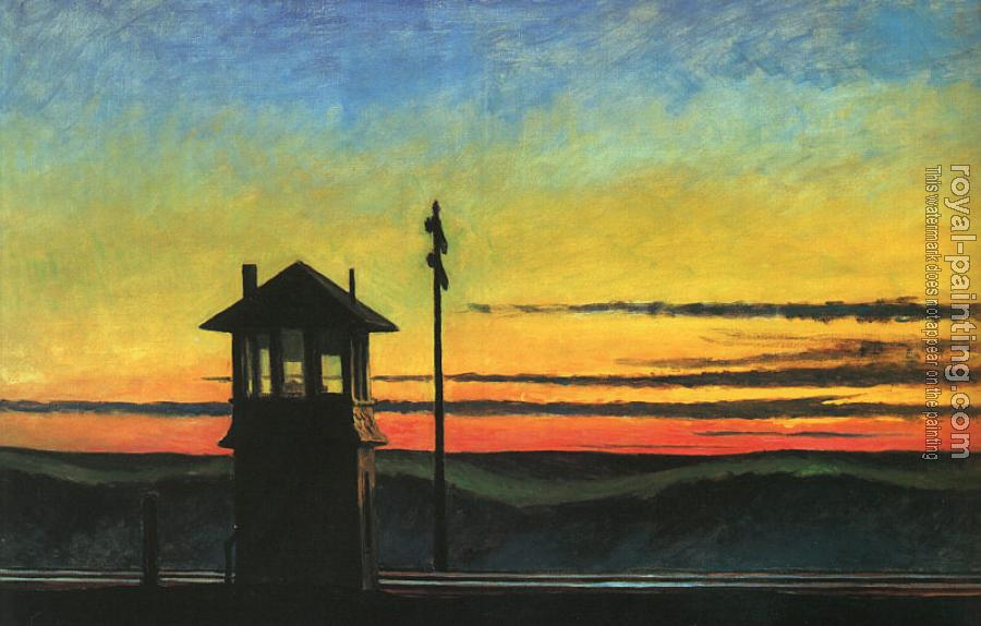 Edward Hopper : Railroad Sunset
