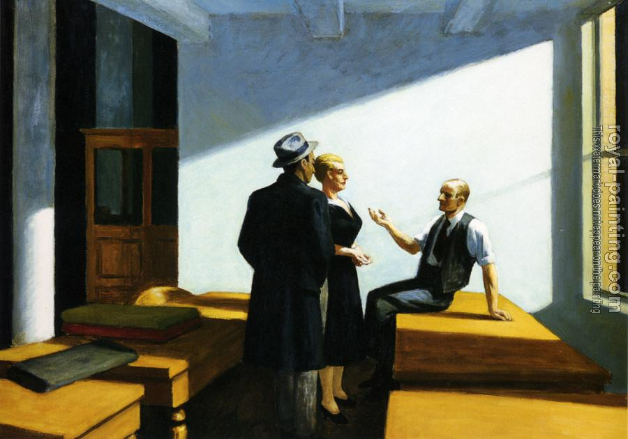 Edward Hopper : Conference At Night