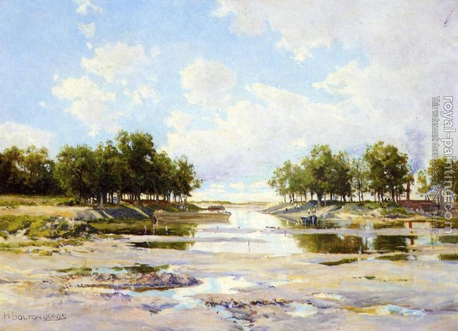 Hugh Bolton Jones : Inlet at Low Tide