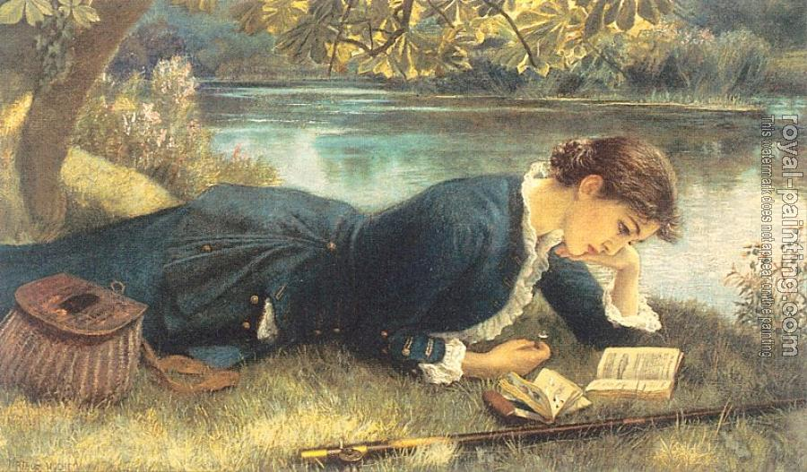 The Compleat Angler By Arthur Hughes Oil Painting Reproduction
