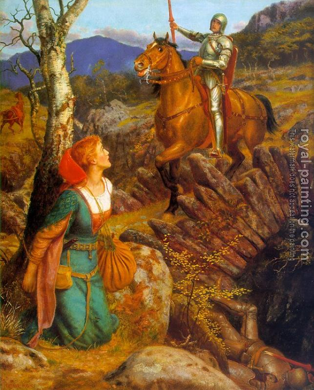 Arthur Hughes : Overthrowing of the Rusty Knight