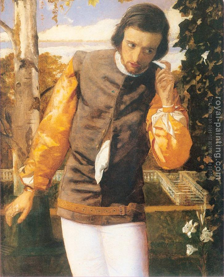 Arthur Hughes : Benedick in the Arbor