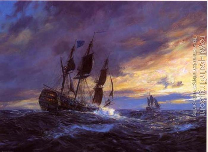 Geoff Hunt : Vanguard in heavy weather off Toulon, 19th May 1798