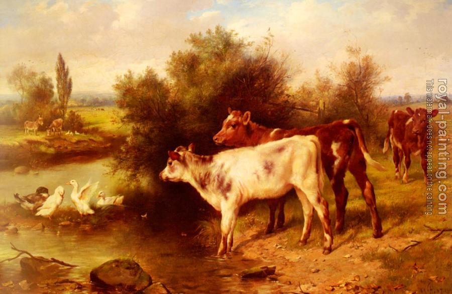 Walter Hunt : Calves Watering