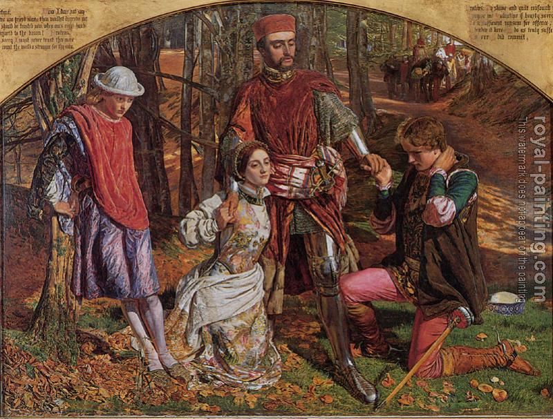 William Holman Hunt : Valentine rescuing Sylvia from Proteus