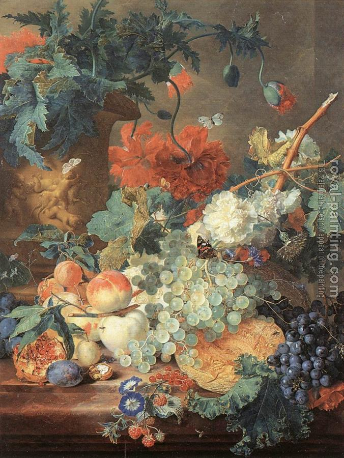 Jan Van Huysum : Fruit and Flowers