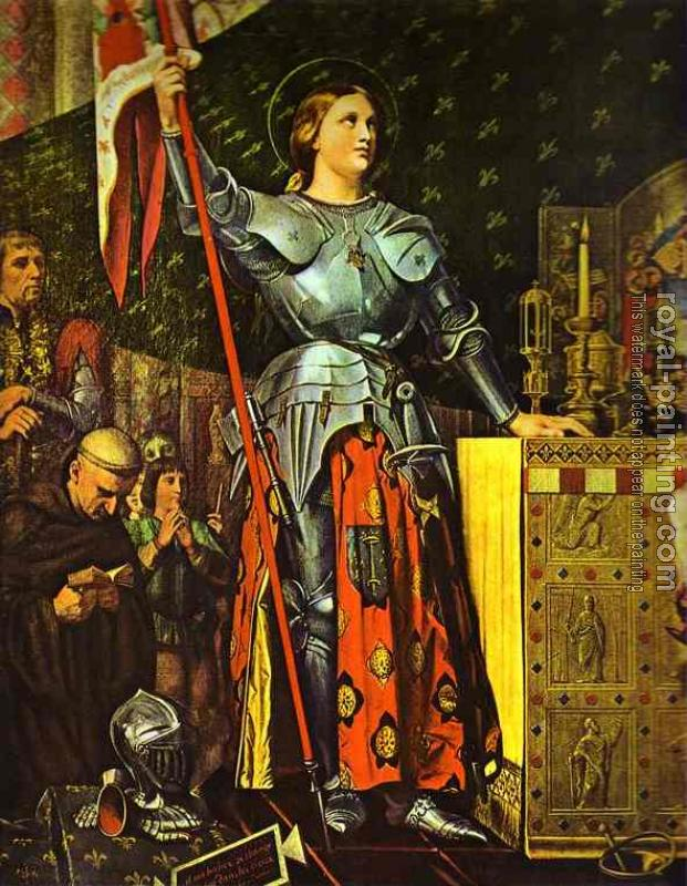 Jean Auguste Dominique Ingres : Joan of Arc on Corronation of Charles VII in the Cathedral of Reim