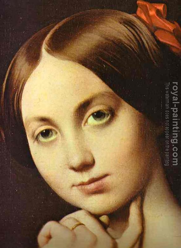 Jean Auguste Dominique Ingres : Vicomtesse Othenin d'Haussonville detail