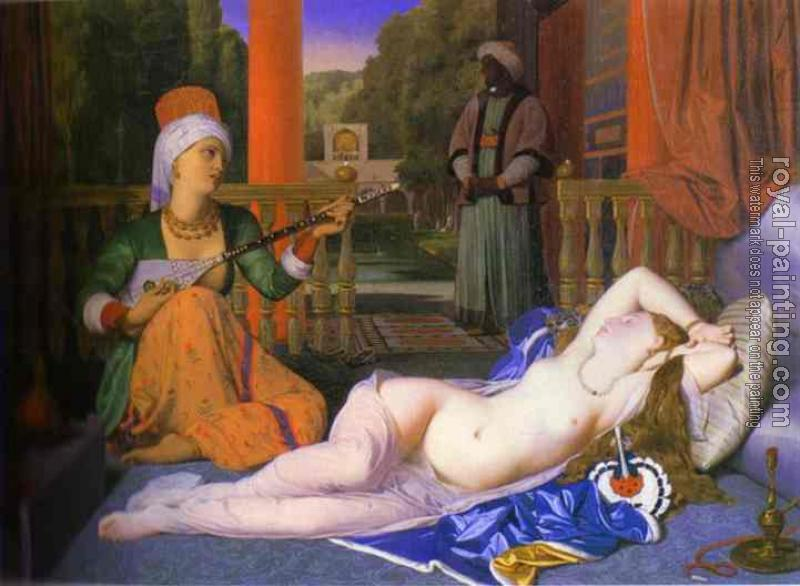 Jean Auguste Dominique Ingres : Odalisque with Slave