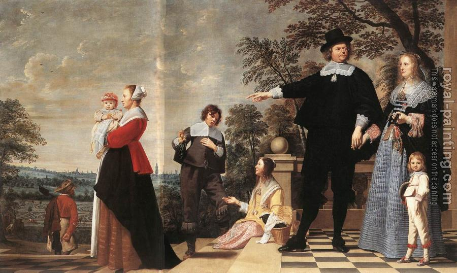 Jacob Van Oost The Elder : Portrait Of A Bruges Family