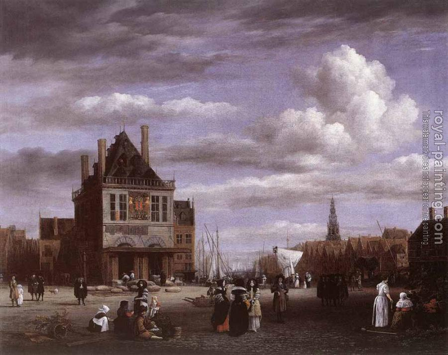 Jacob Van Ruisdael : The Dam Square In Amsterdam