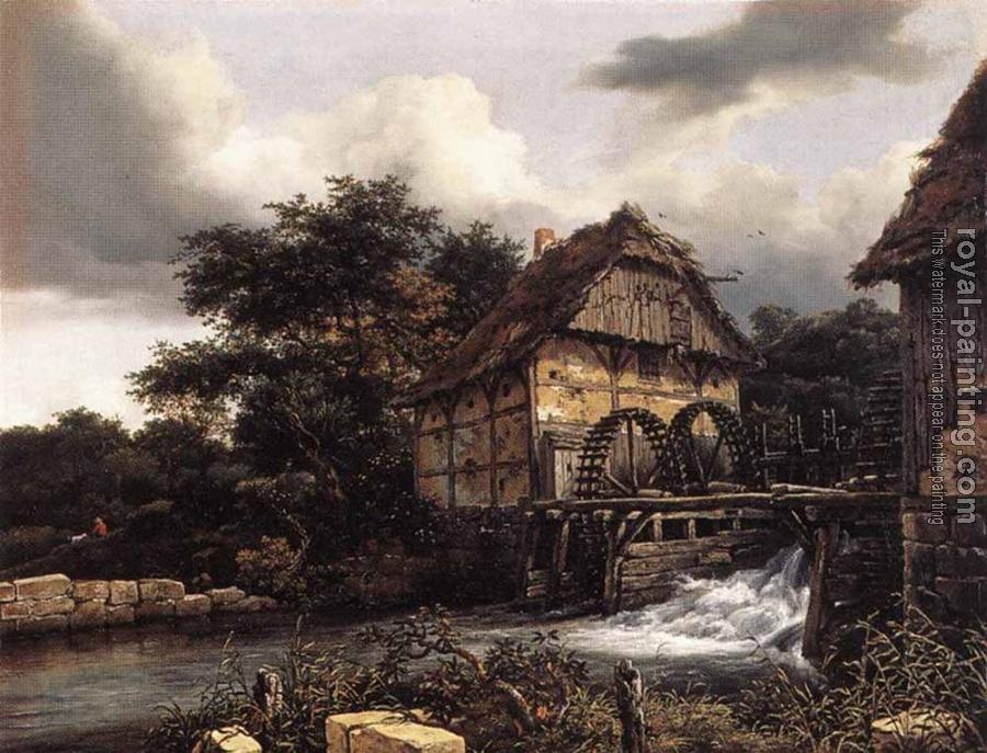 Two Water Mills And Open Sluice