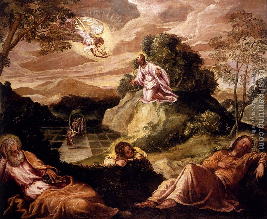 Jacopo Robusti Tintoretto : Agony In The Garden
