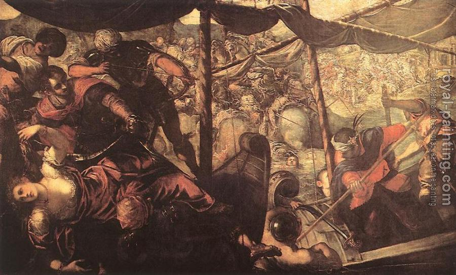 Jacopo Robusti Tintoretto : Battle between Turks and Christians