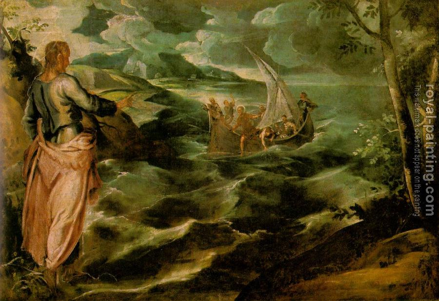 Jacopo Robusti Tintoretto : Christ at the Sea of Galilee