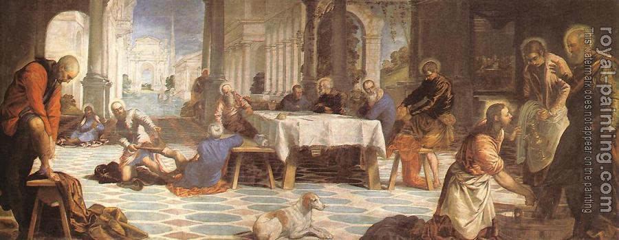 Jacopo Robusti Tintoretto : Christ Washing the Feet of His Disciples