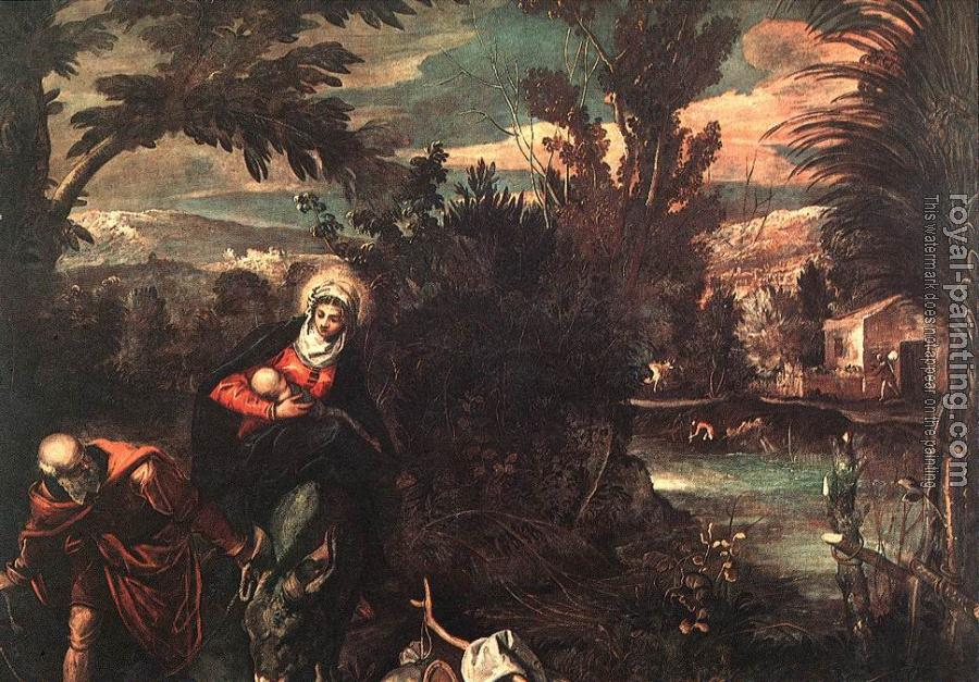 Jacopo Robusti Tintoretto : Flight into Egypt