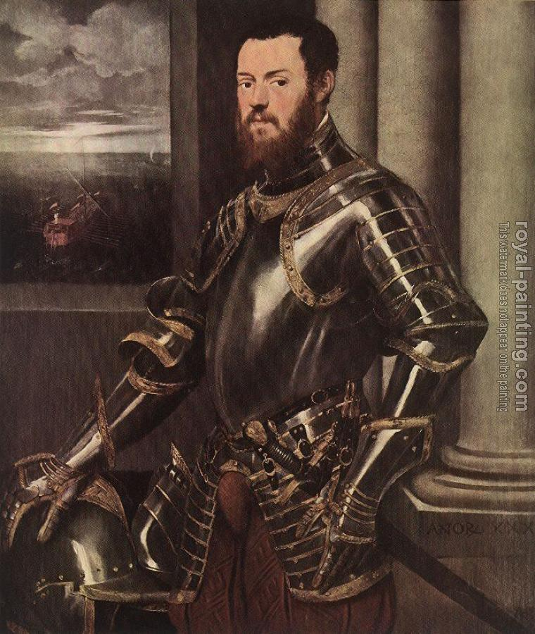 Jacopo Robusti Tintoretto : Man in Armour