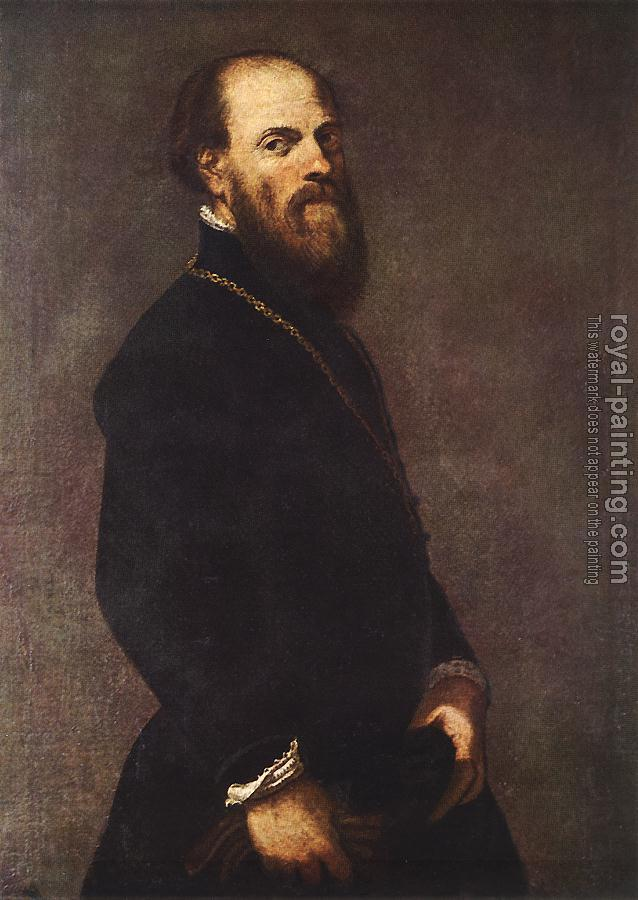 Jacopo Robusti Tintoretto : Man with a Golden Lace