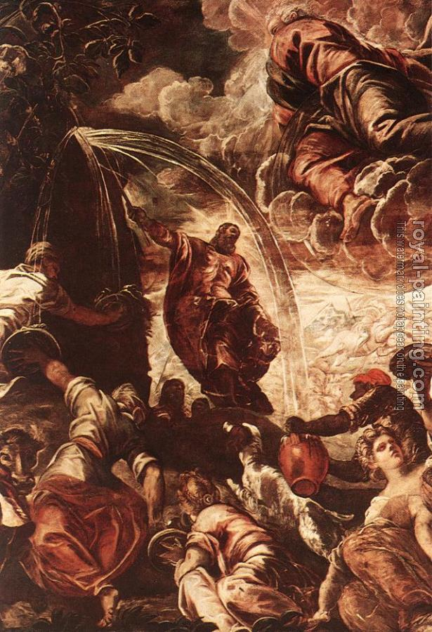 Jacopo Robusti Tintoretto : Moses Drawing Water from the Rock detail