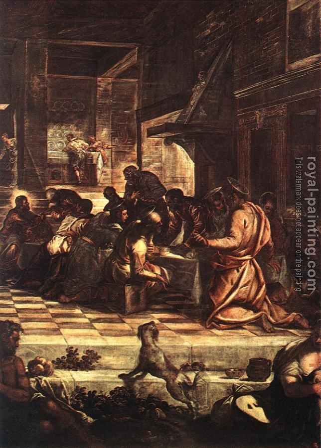 Jacopo Robusti Tintoretto : The Last Supper detail