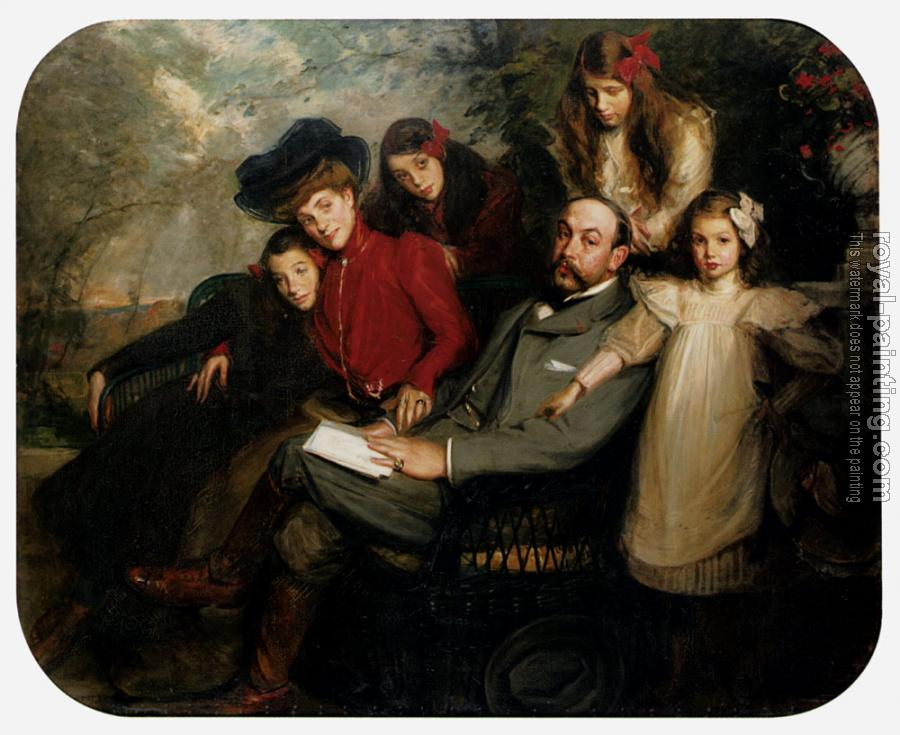 Jacques Emile Blanche : The Poet Francis Viele Griffin And His Family