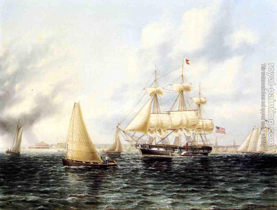 James E Buttersworth : New York Harbor