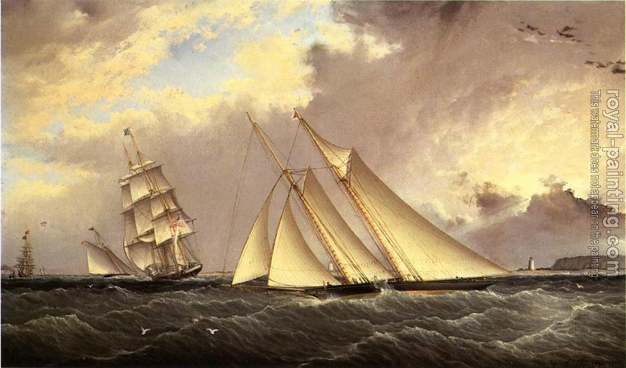 James E Buttersworth : The Dauntless off Sandy Hook