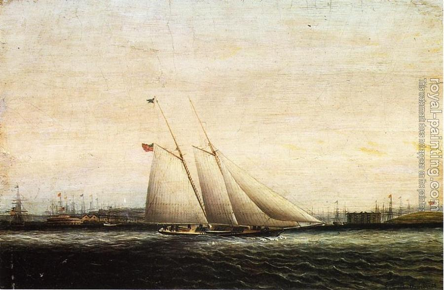 James E Buttersworth : Two Masted Schooner