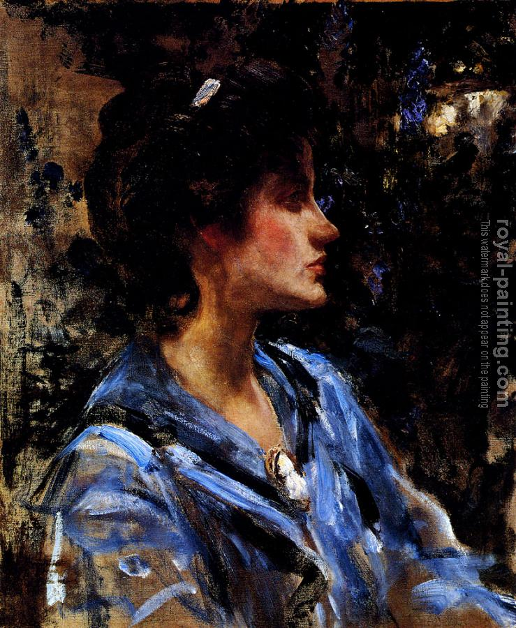 James Jebusa Shannon : Young Woman In Blue