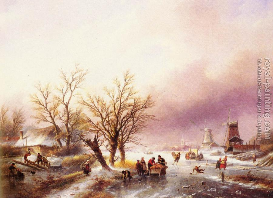 Jan Jacob Coenraad Spohler : A Winter Landscape