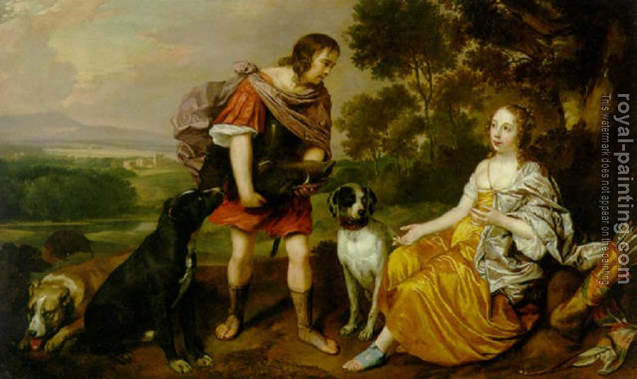 Jan Mytens : Portrait histoire of a young man and lady as Meleager and Atalanta