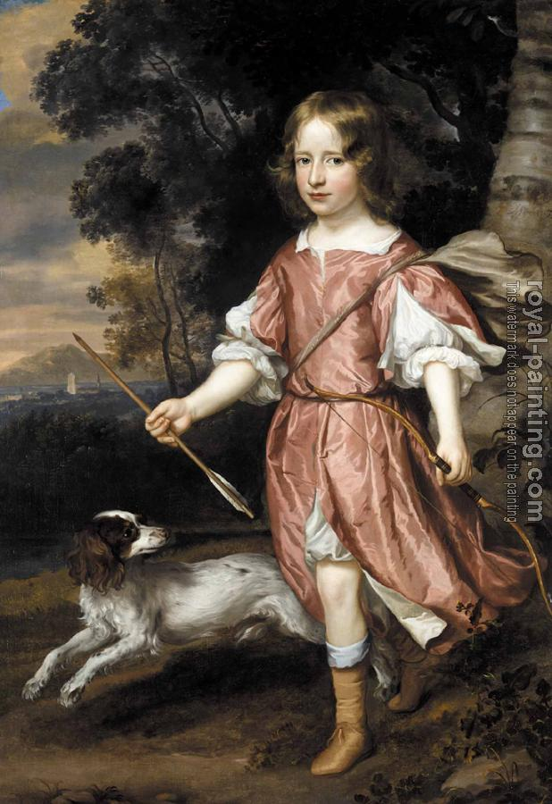 Jan Mytens : Portrait of the son of a nobleman as Cupid