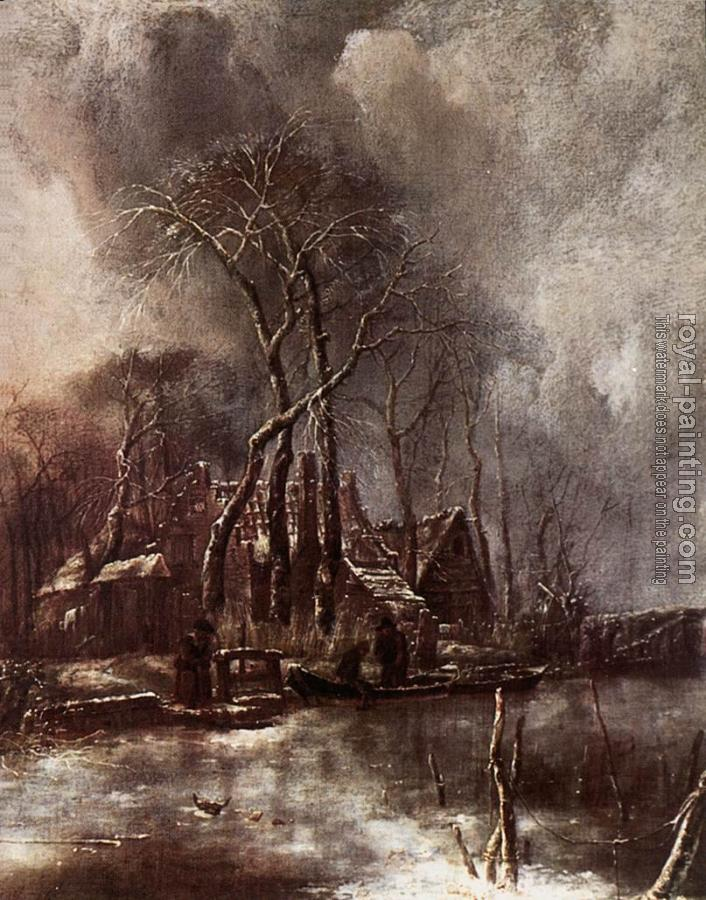 Jan Van De Capelle : Winter Landscape
