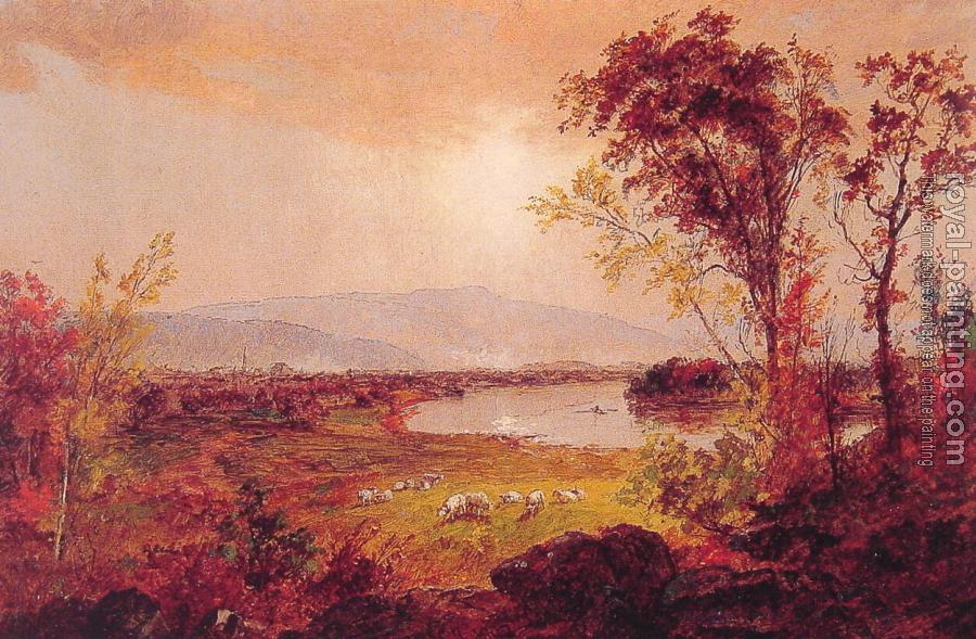 Jasper Francis Cropsey : A Bend in the River