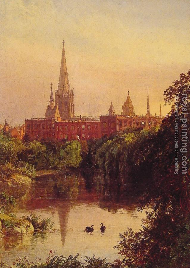 Jasper Francis Cropsey : A View in Central Park