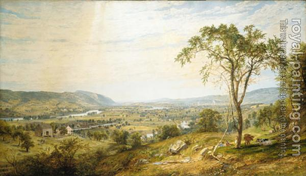 Jasper Francis Cropsey : Crospey Jasper Francis The Valley Of Wyoming