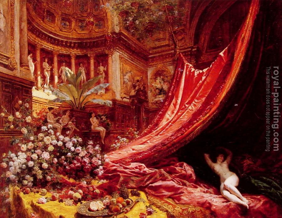 Jean Beraud : Symphony in Red and Gold